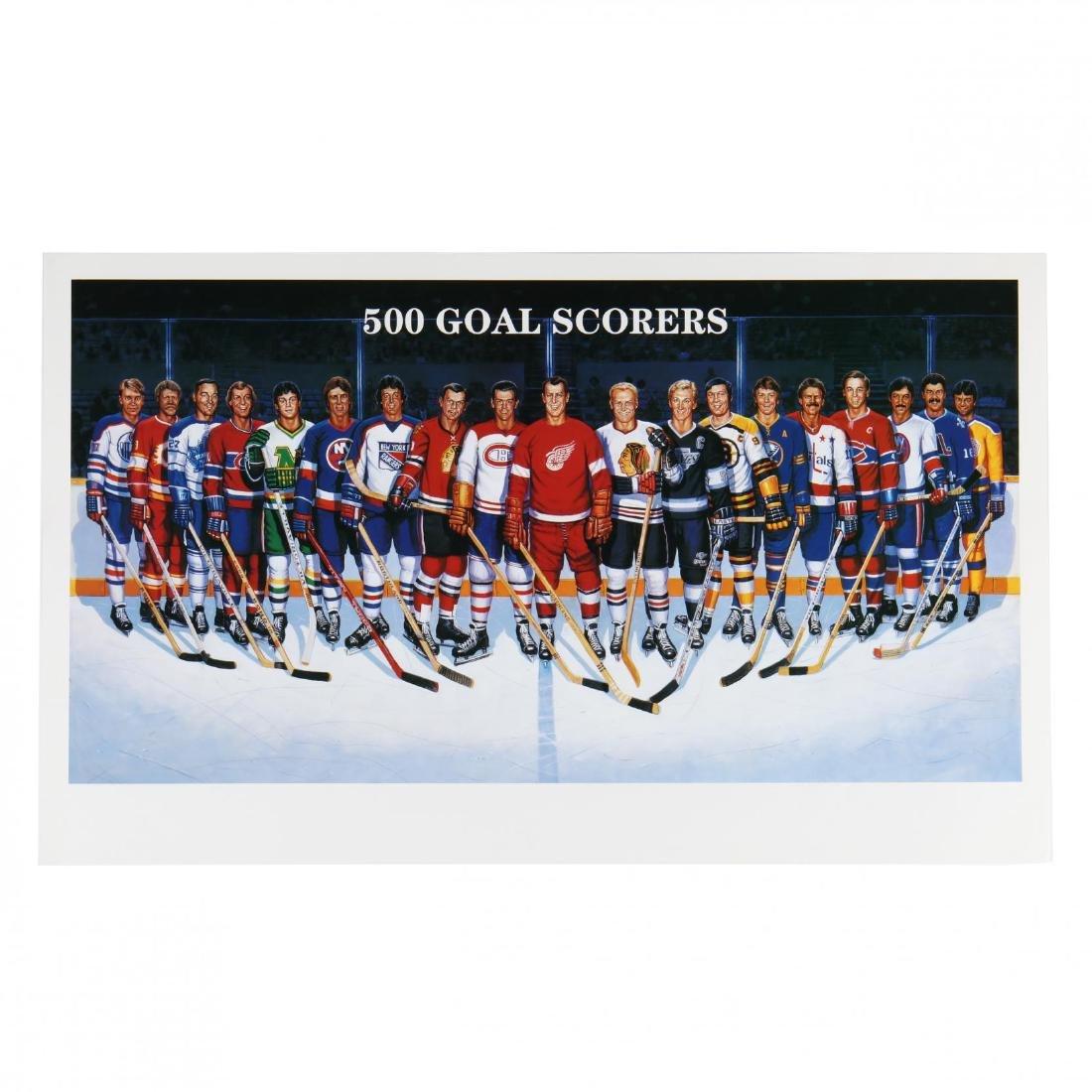 500 Goal Scorers Autographaped Hockey Poster - 6