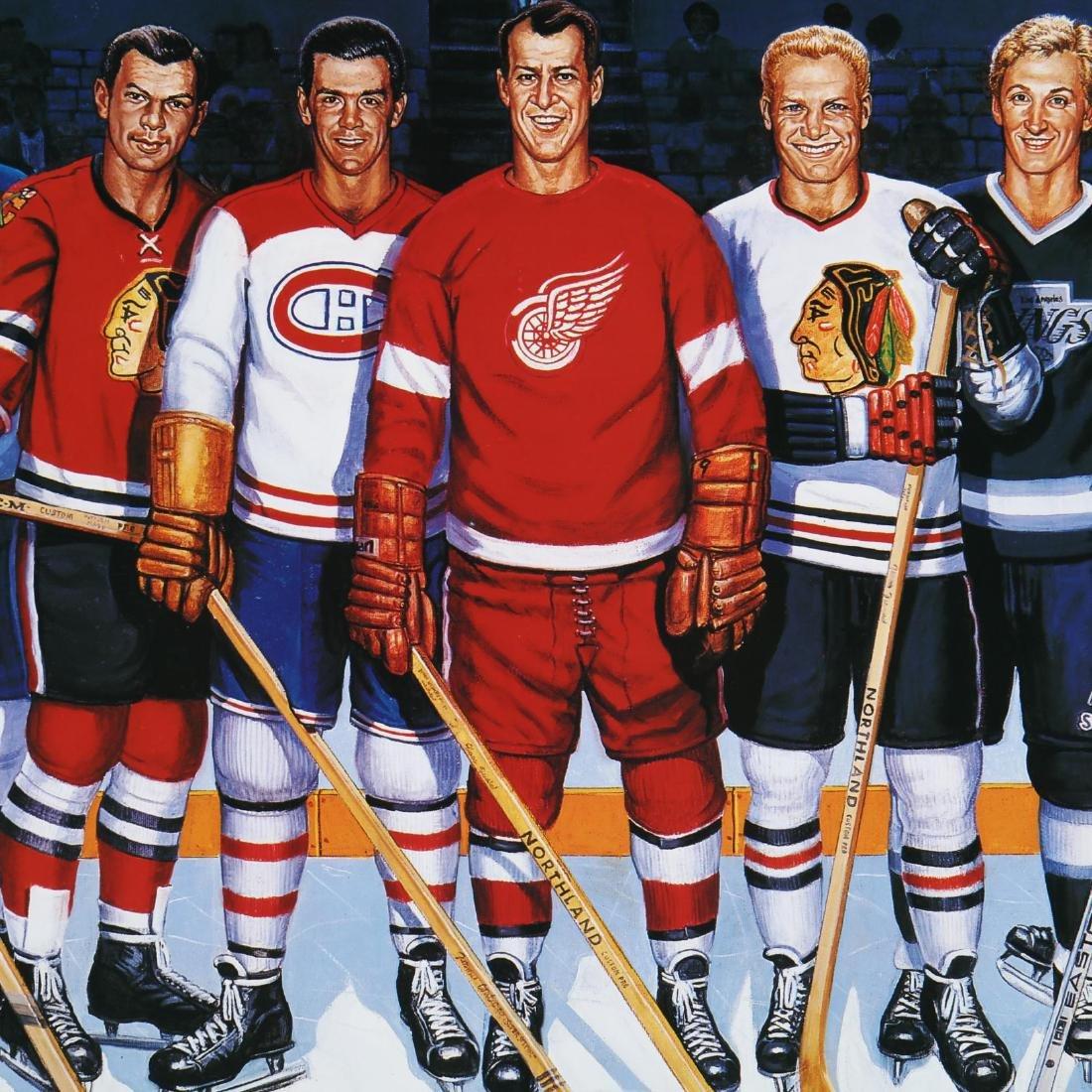 500 Goal Scorers Autographaped Hockey Poster - 7