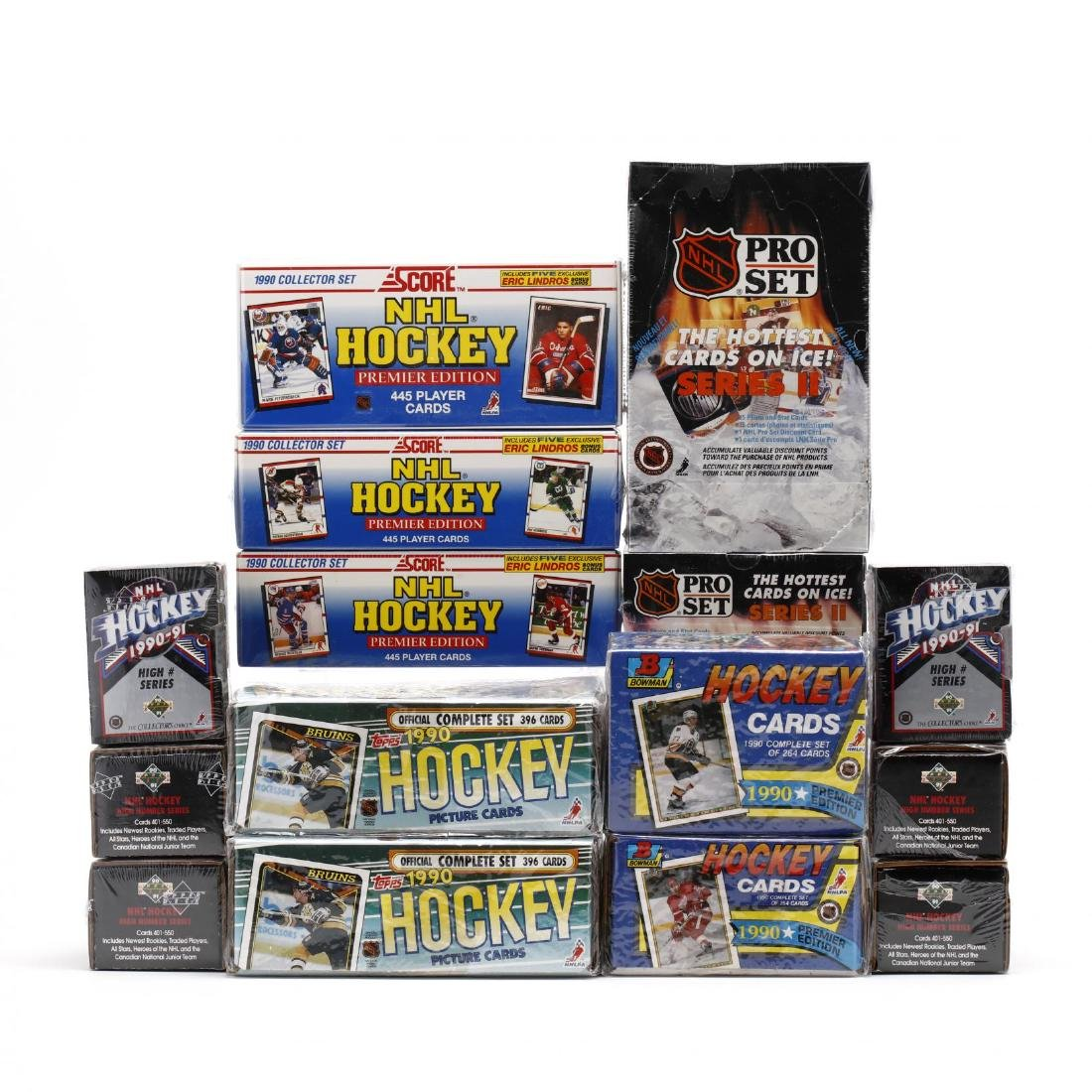 Fifteen Factory Sealed 1990/91 NHL Hockey Card Boxes