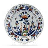 English Delft Floral Charger