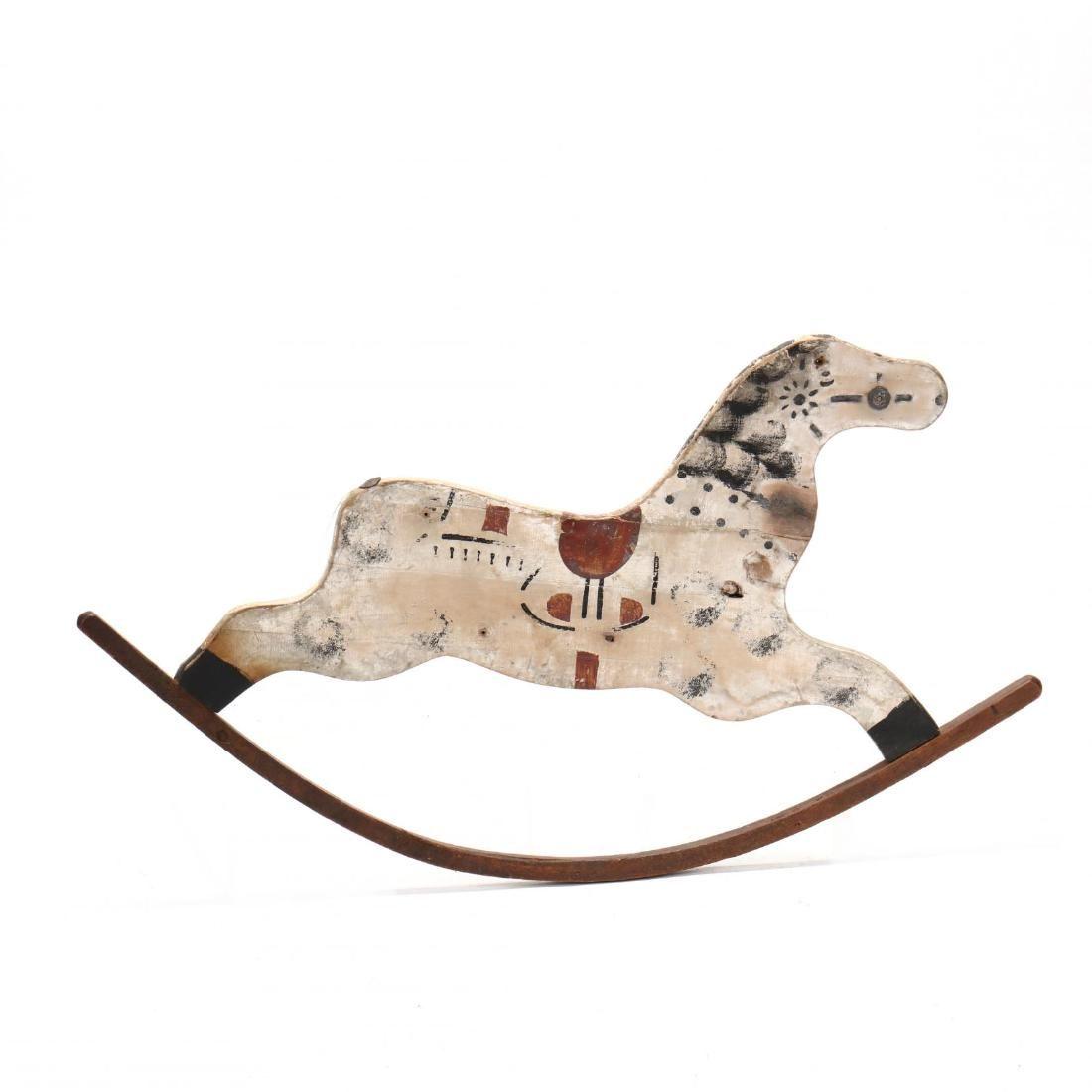 Folk Art Rocking Horse Trade Sign