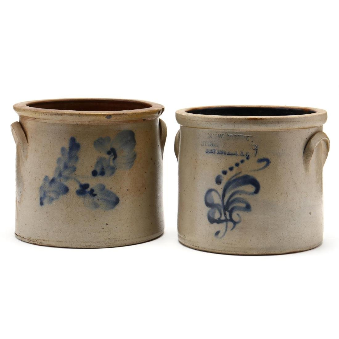 Antique Stoneware Crocks, One from New York