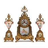 Antique French Clock Garniture Set