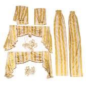 Pair of Custom Scalamandre Yellow Silk Curtain Sets