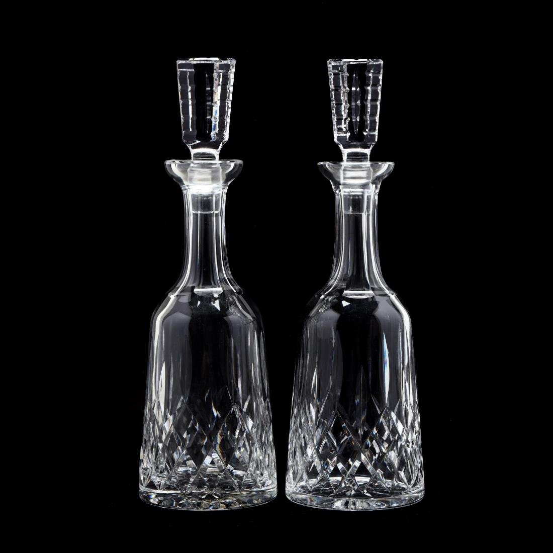 """Waterford Pair of """"Lismore"""" Decanters"""