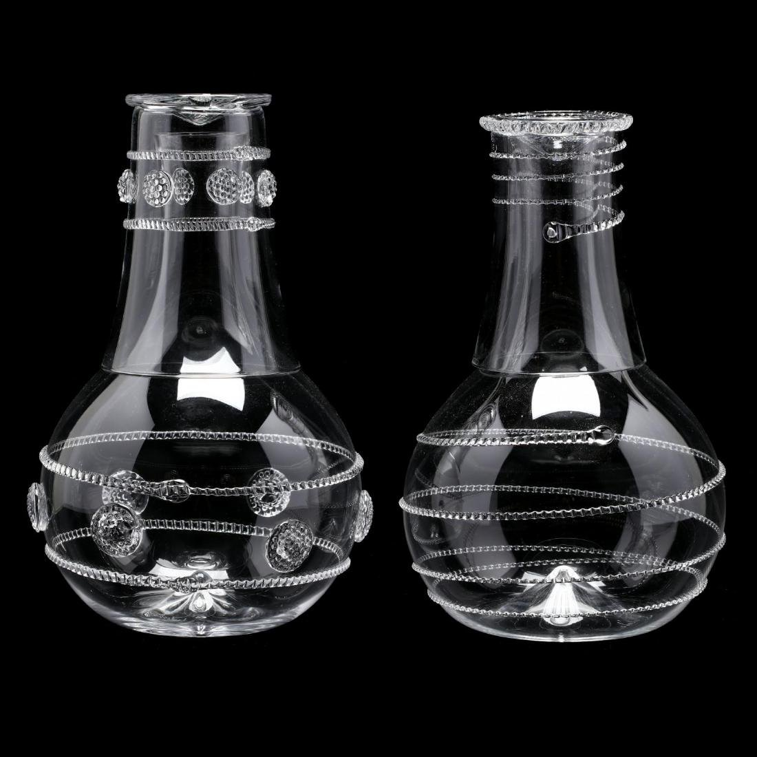 Three Designer Glass Carafes - 9