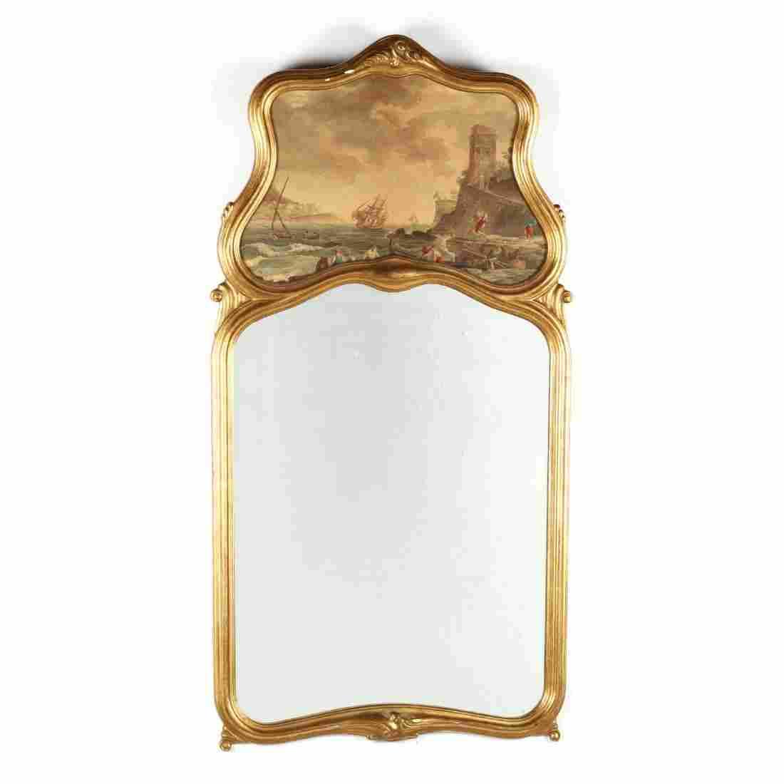 Vintage Italianate Trumeau Mirror