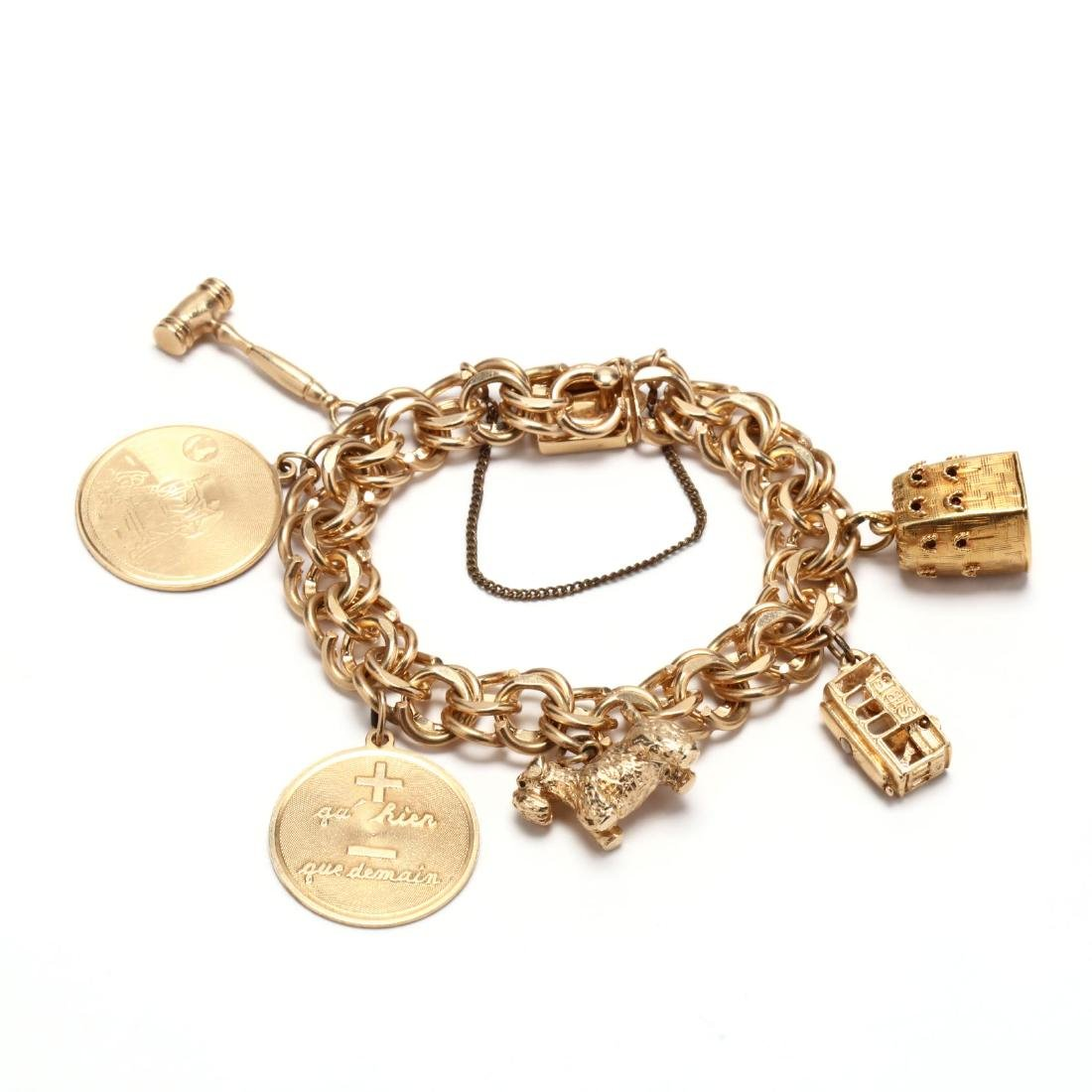 Gold Charm Bracelet and Charms - 2