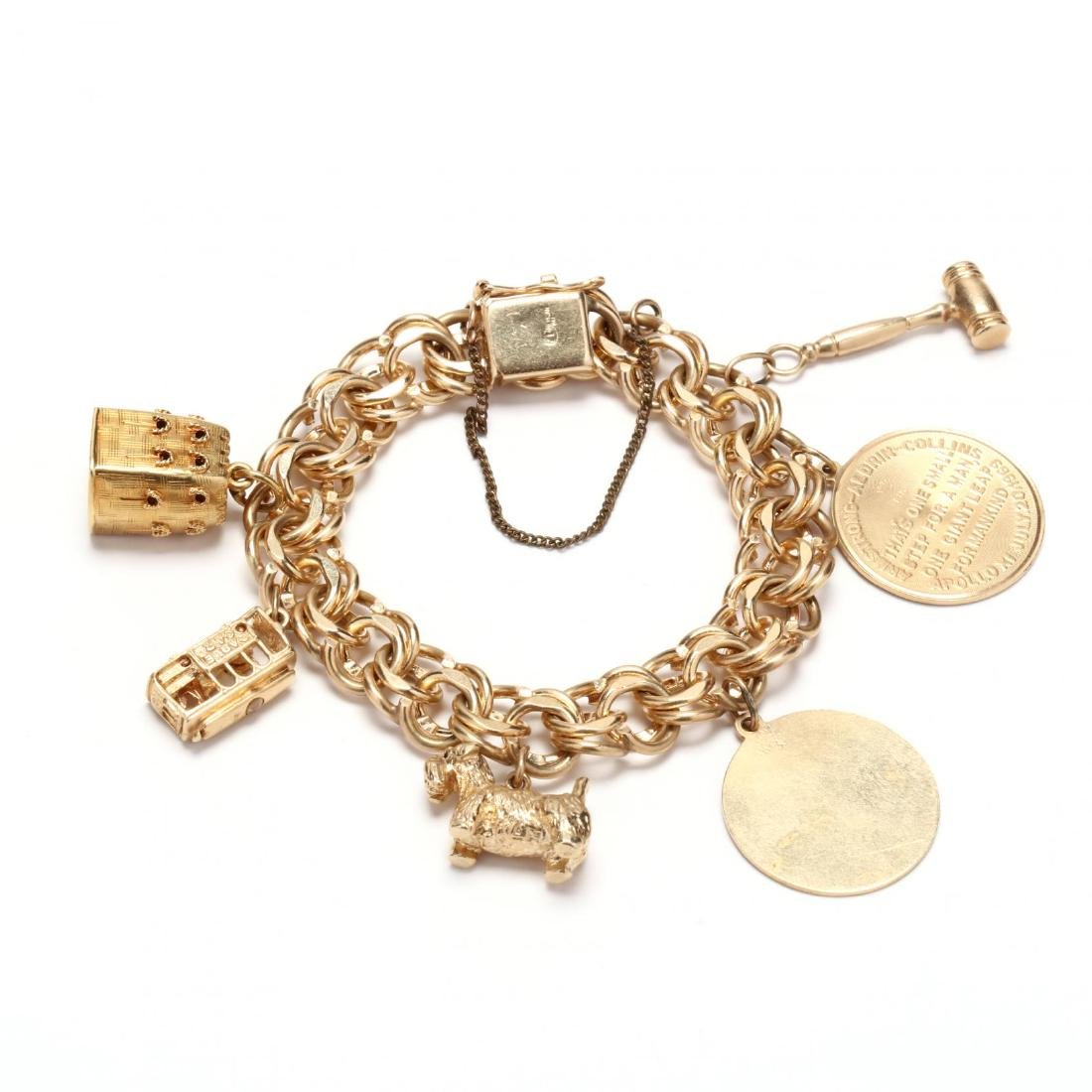 Gold Charm Bracelet and Charms - 3
