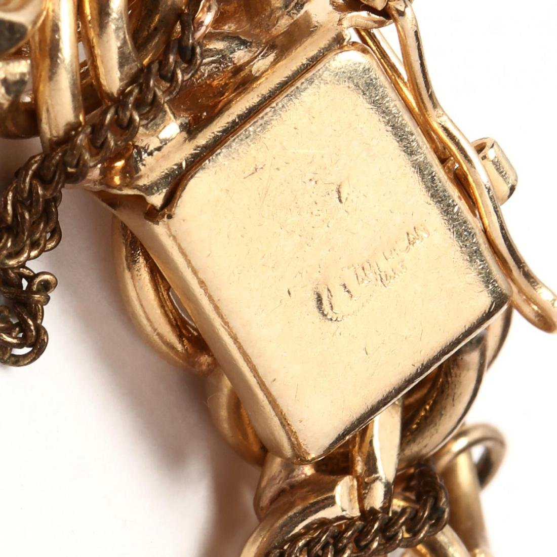 Gold Charm Bracelet and Charms - 4