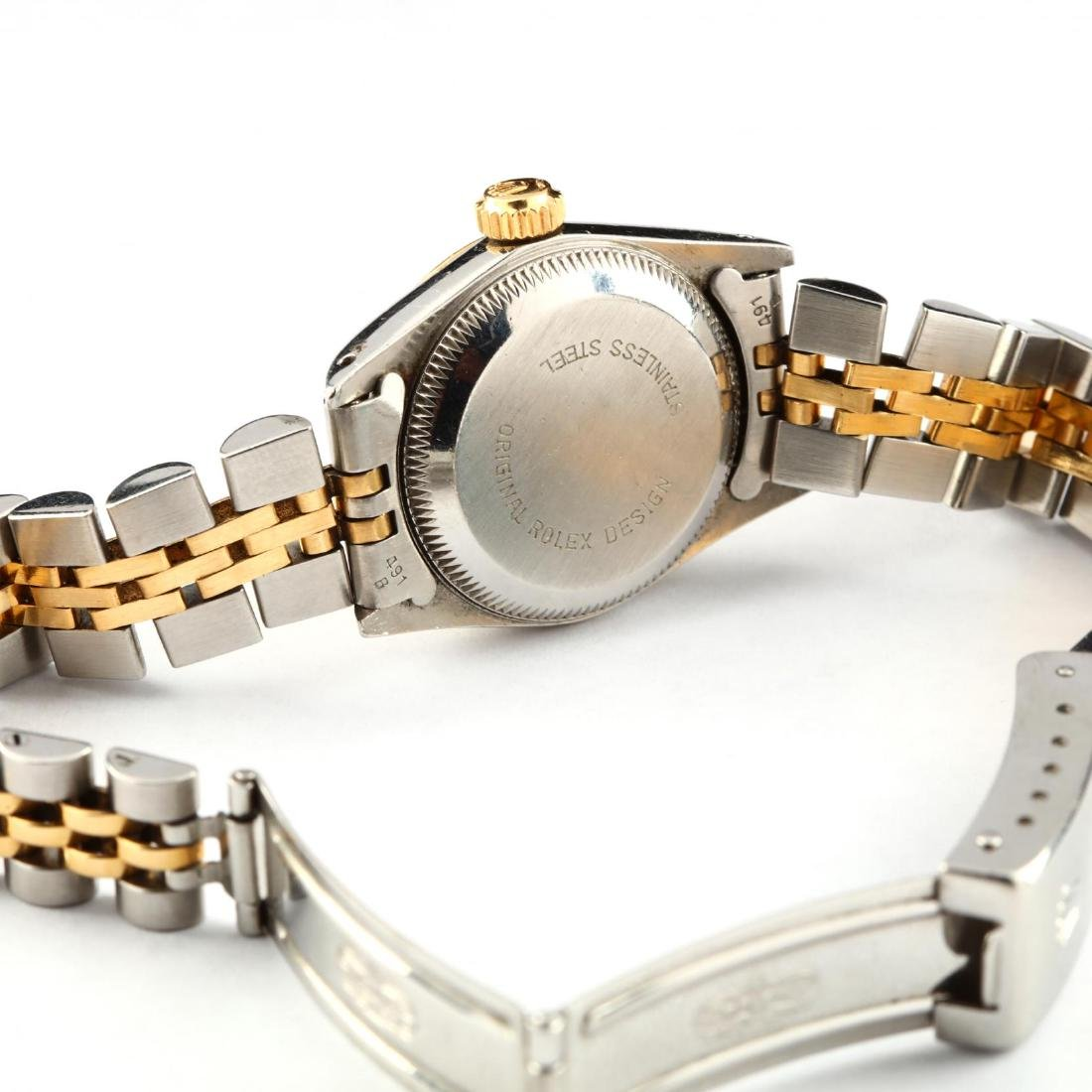 Lady's Stainless Steel and Gold Oyster Perpetual Watch, - 2