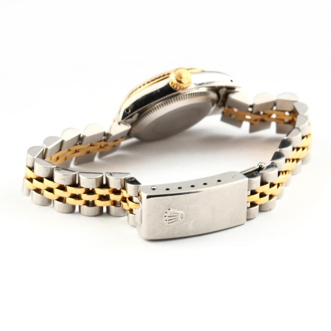 Lady's Stainless Steel and Gold Oyster Perpetual Watch, - 4