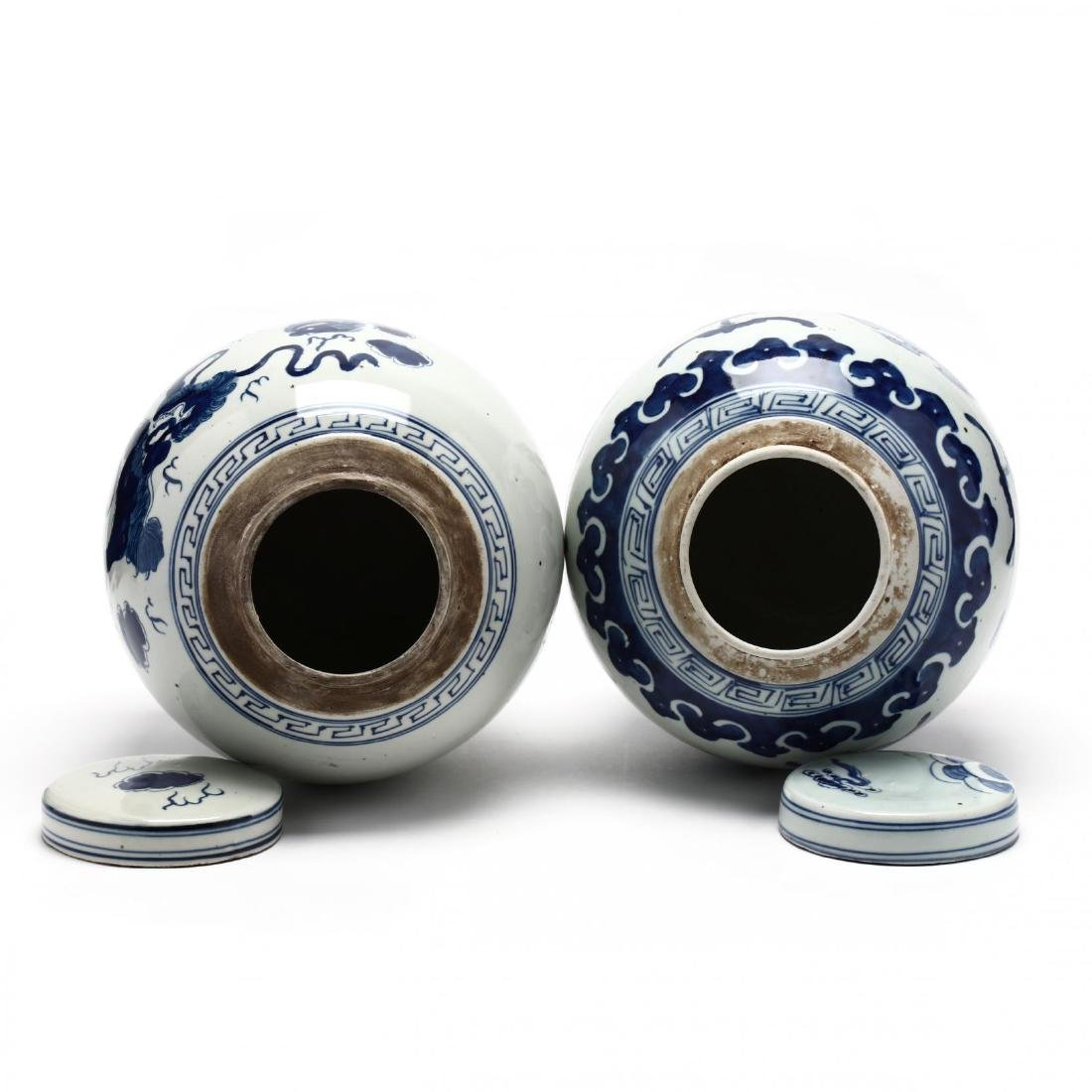 A Matched Pair of Unusual Chinese Porcelain Blue and - 4