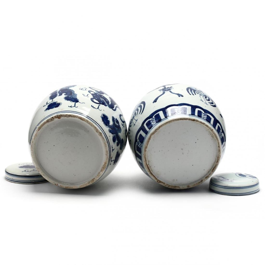A Matched Pair of Unusual Chinese Porcelain Blue and - 5