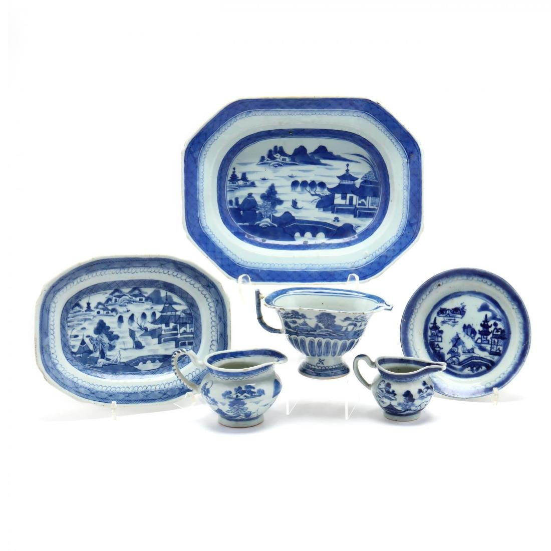 A Group of Canton Export Porcelain