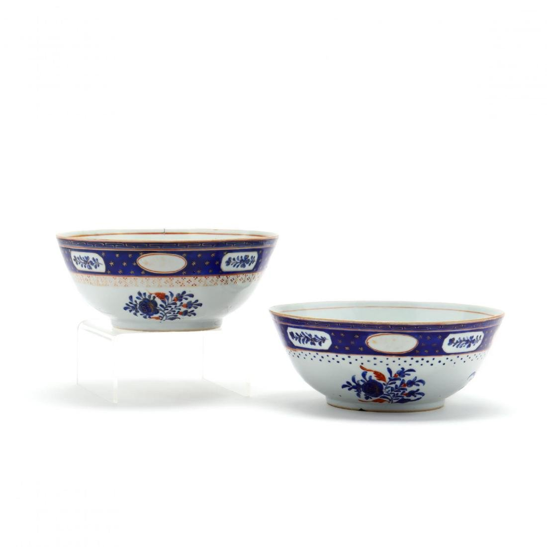 A Pair of Chinese Export Porcelain Bowls