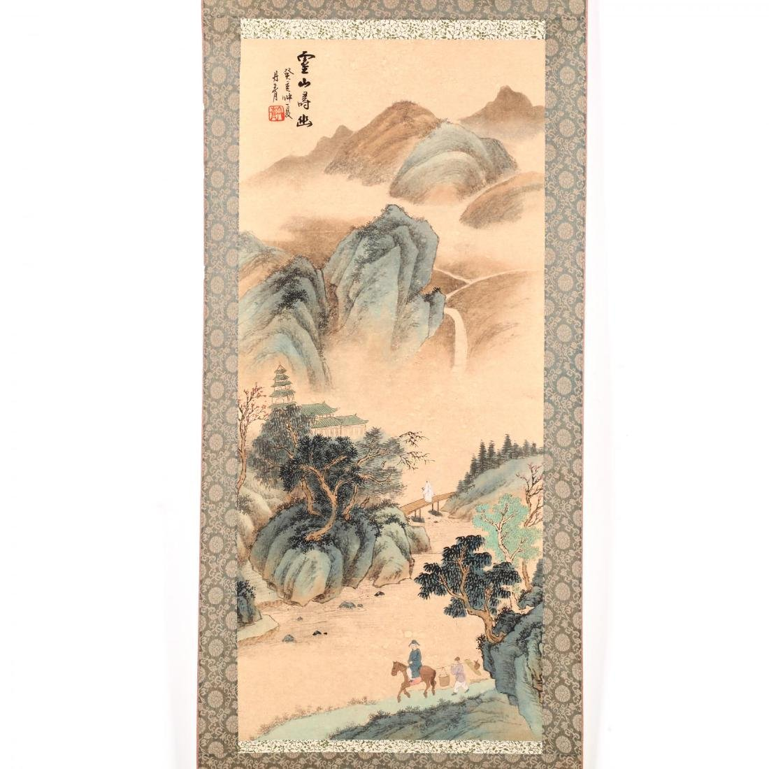 A Hanging Scroll with Landscape - 2