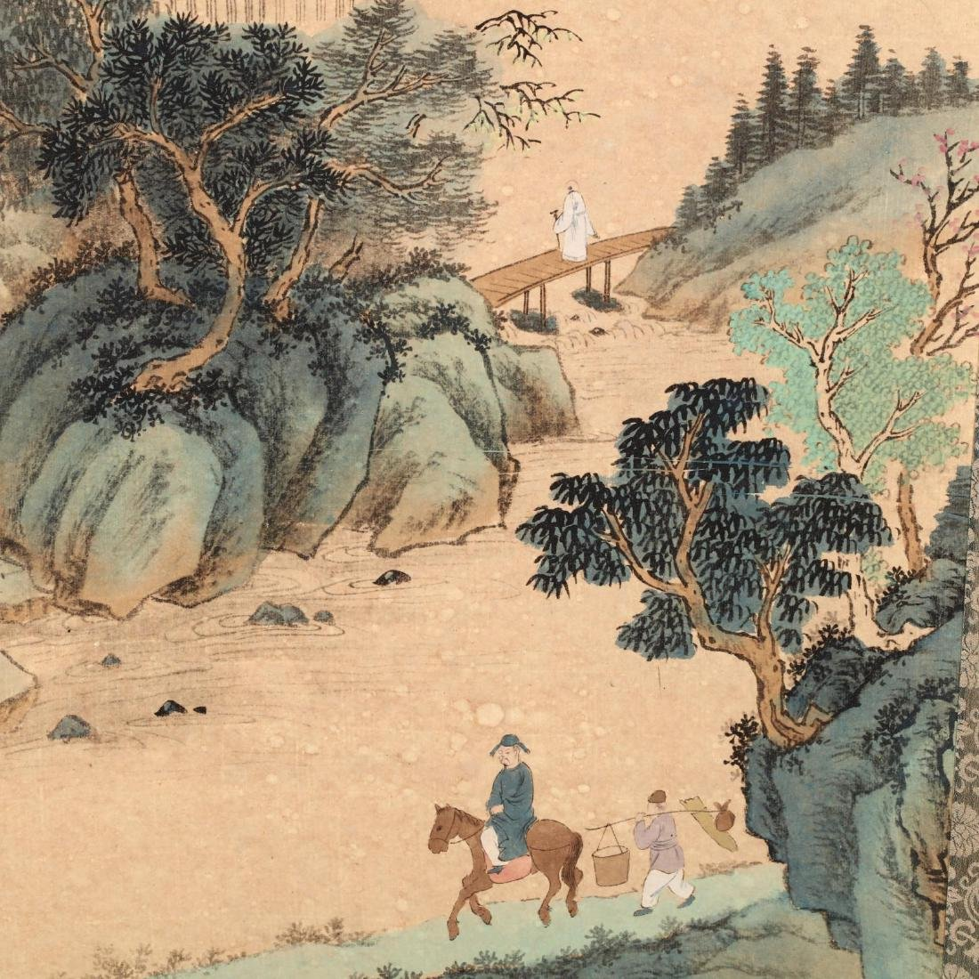 A Hanging Scroll with Landscape - 4