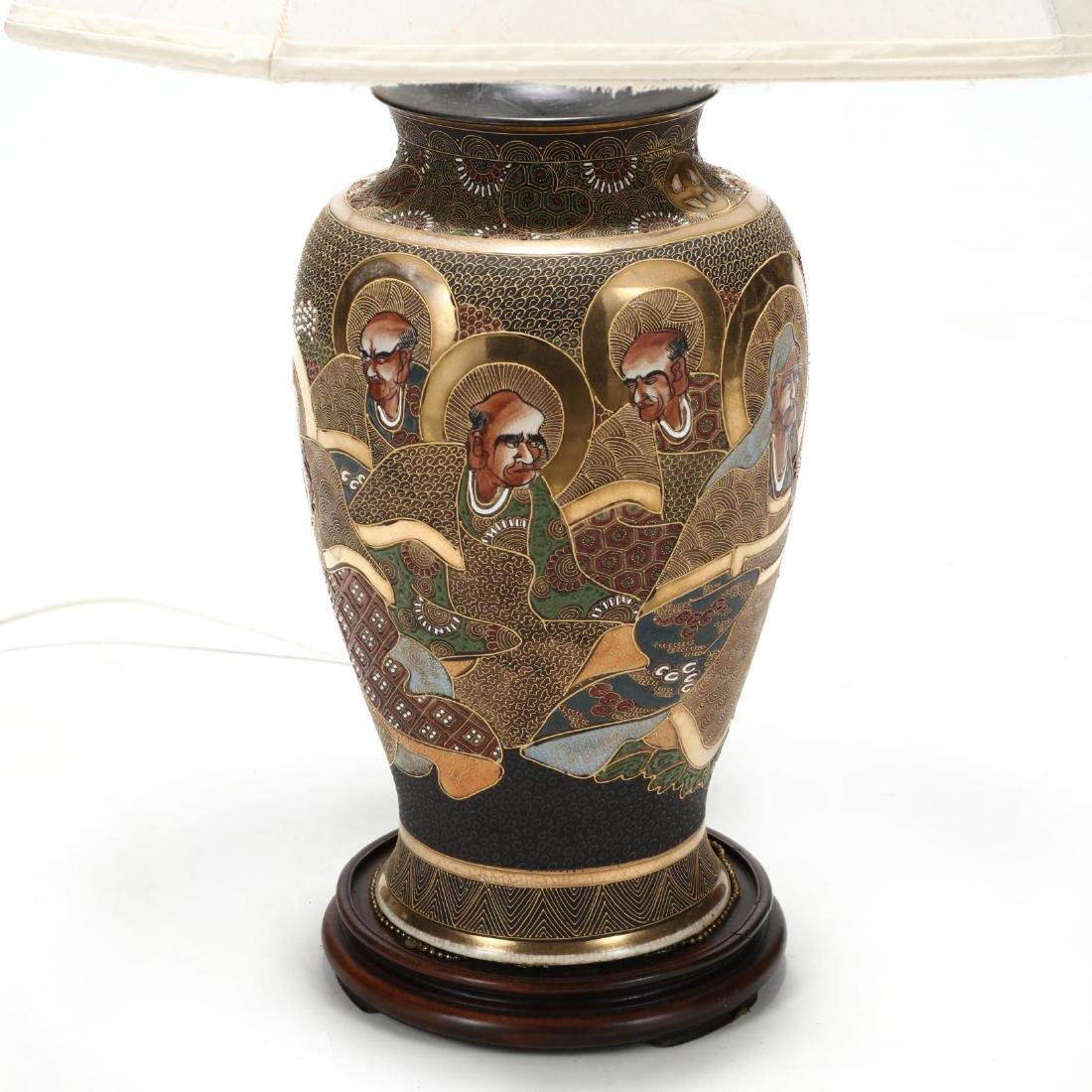 A Japanese Moriage Porcelain Table Lamp - 2