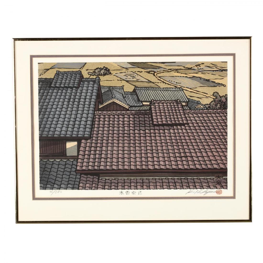 Two Woodblock Prints by Katsuyuki Nishjima (Japanese, - 2