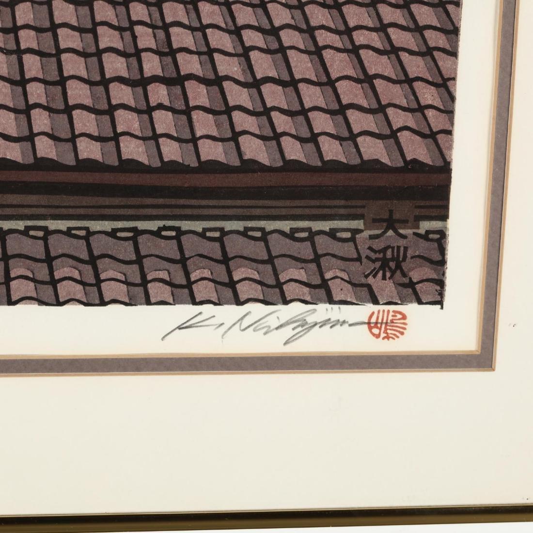 Two Woodblock Prints by Katsuyuki Nishjima (Japanese, - 3