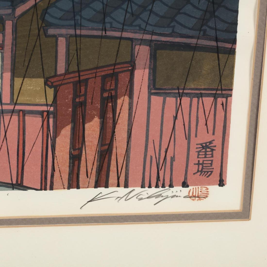 Two Woodblock Prints by Katsuyuki Nishjima (Japanese, - 6