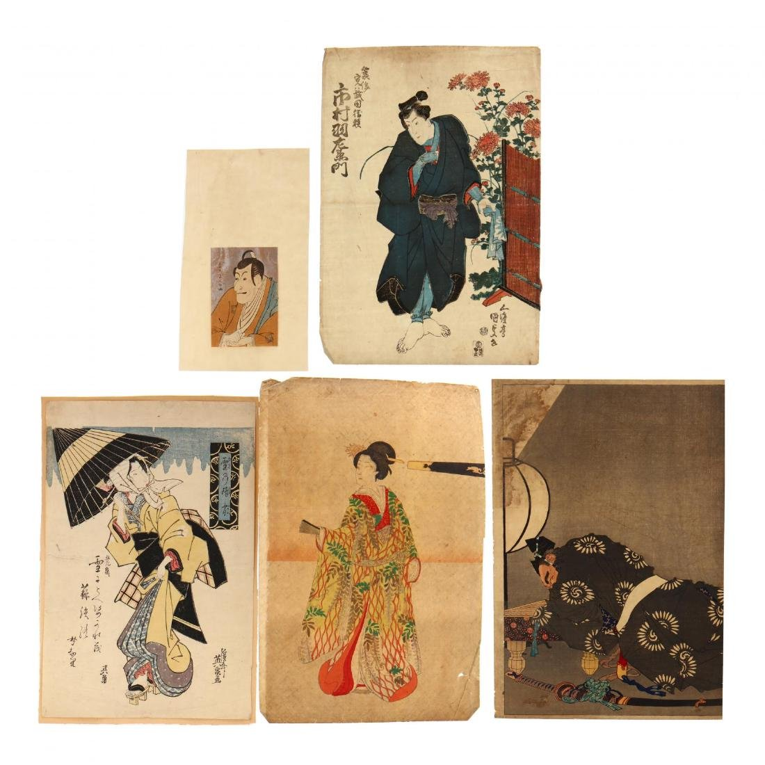 A Group of Japanese Woodblock Prints