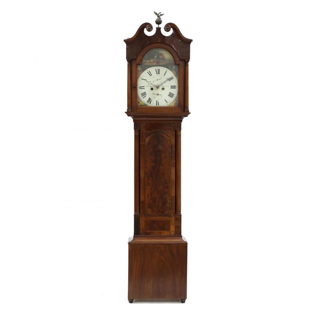 Scottish Mahogany Tall Case Clock, Hay Mercer, Aberdeen