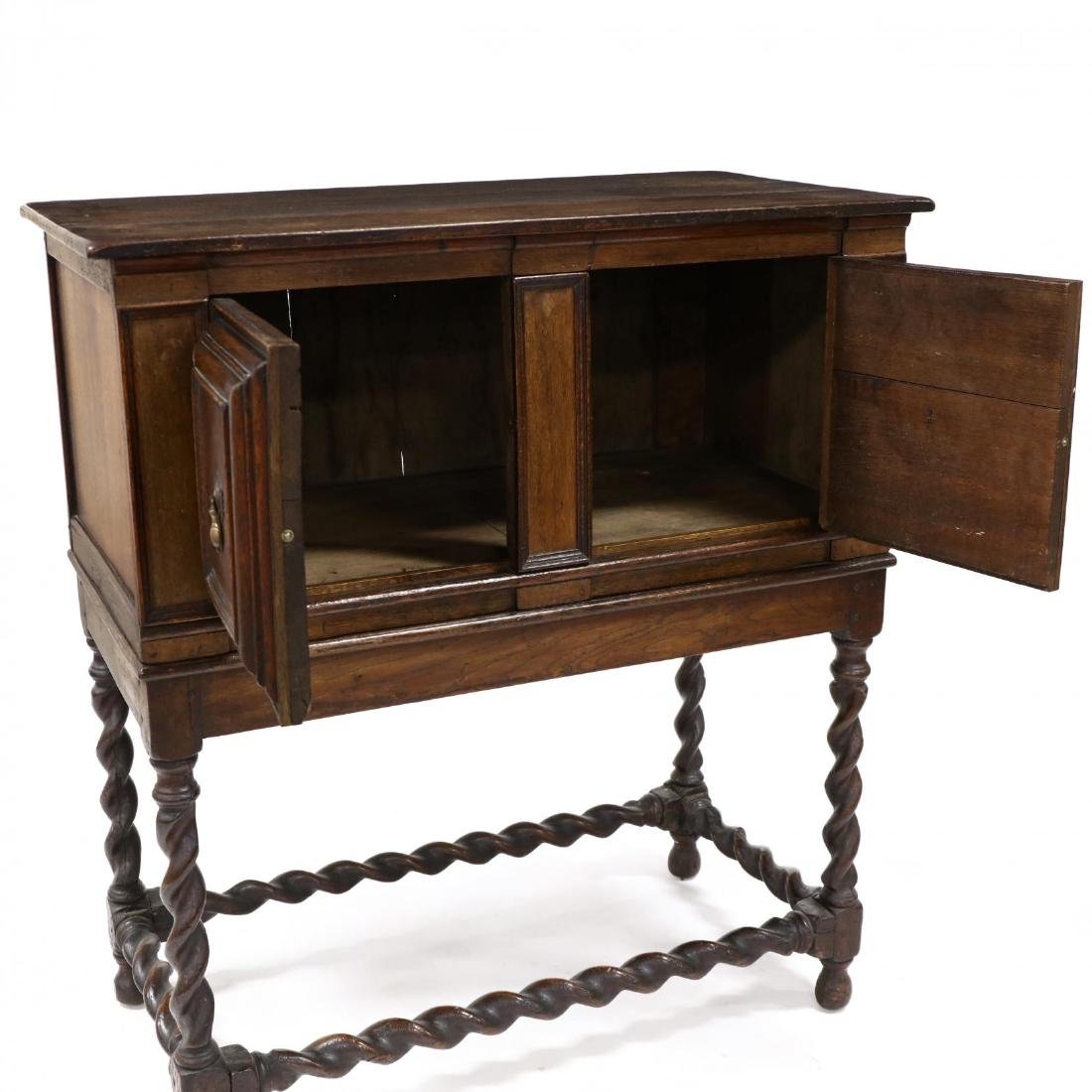 William and Mary Style Inlaid Cabinet on Stand - 2