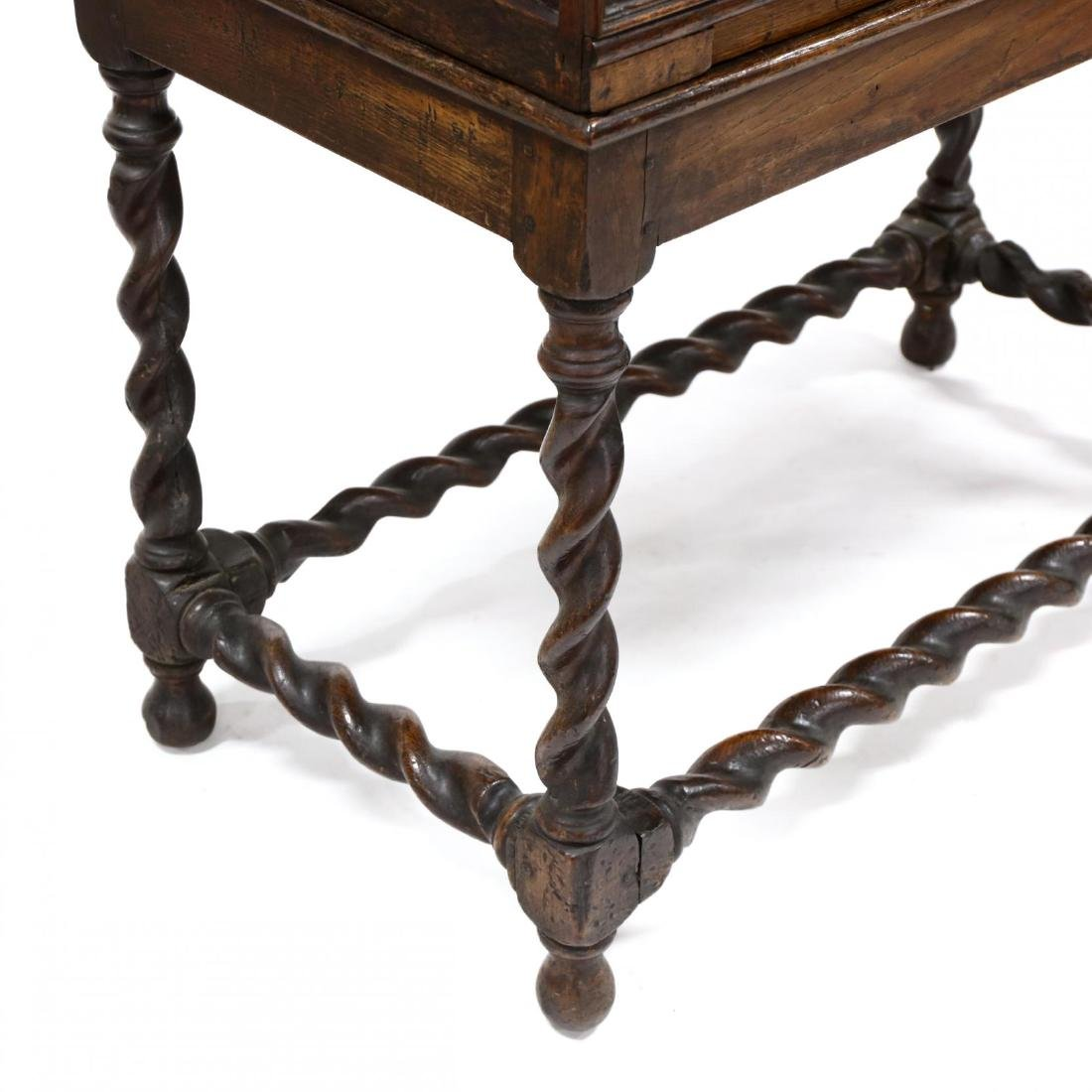 William and Mary Style Inlaid Cabinet on Stand - 3