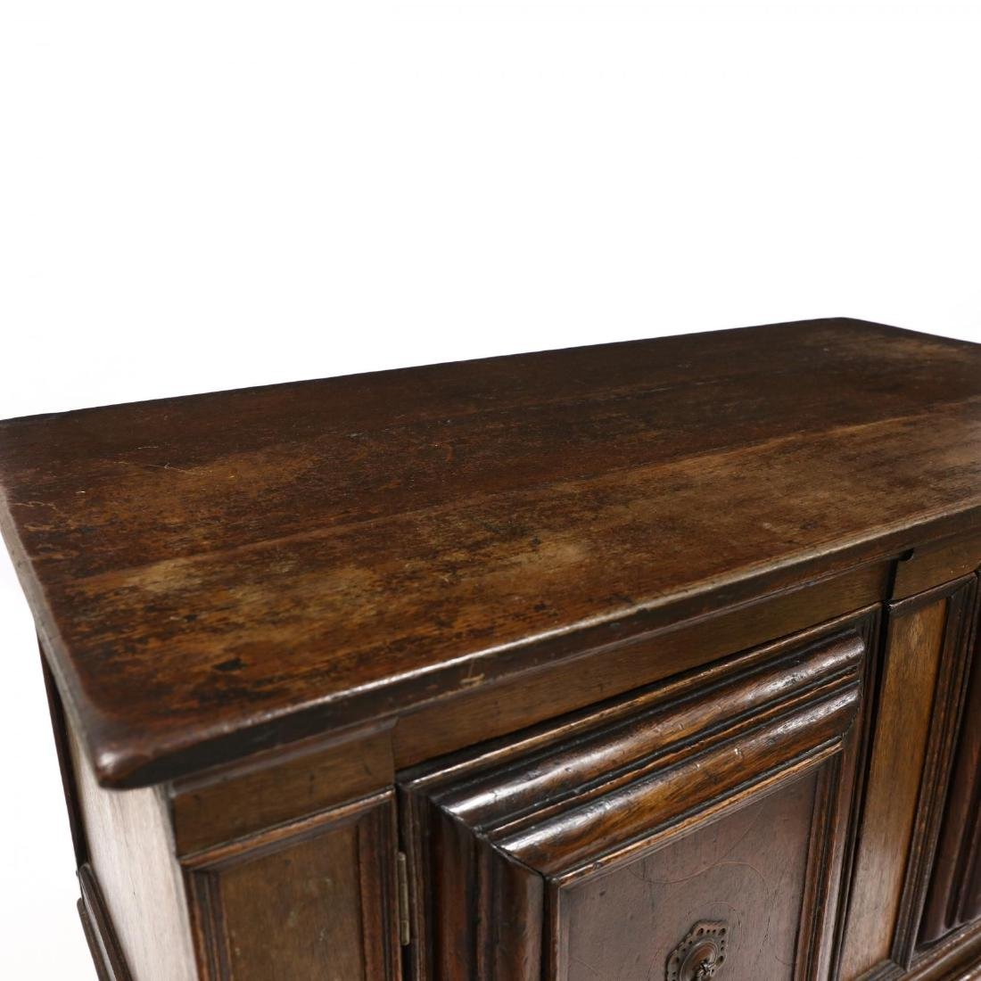 William and Mary Style Inlaid Cabinet on Stand - 4