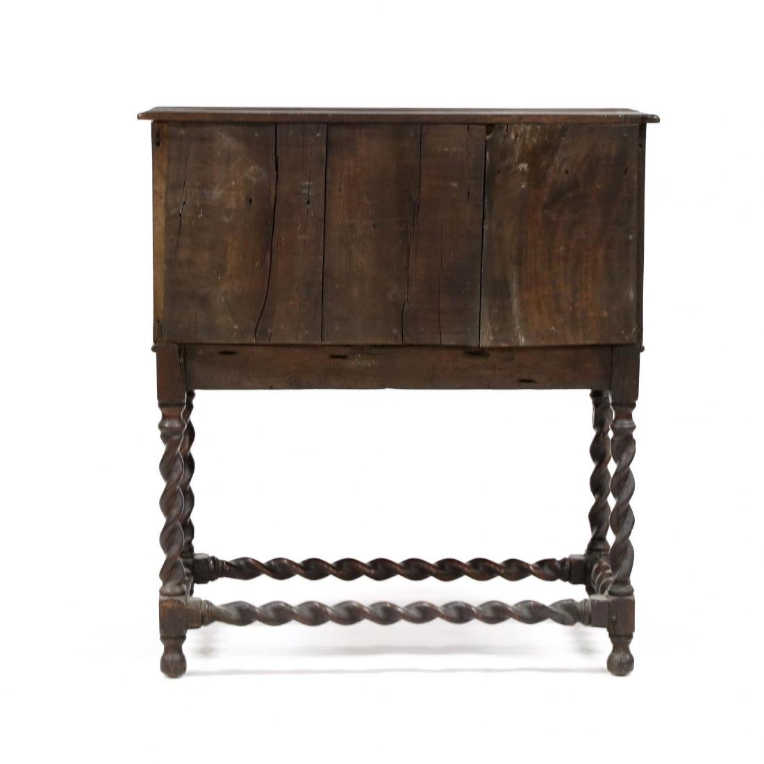 William and Mary Style Inlaid Cabinet on Stand - 5
