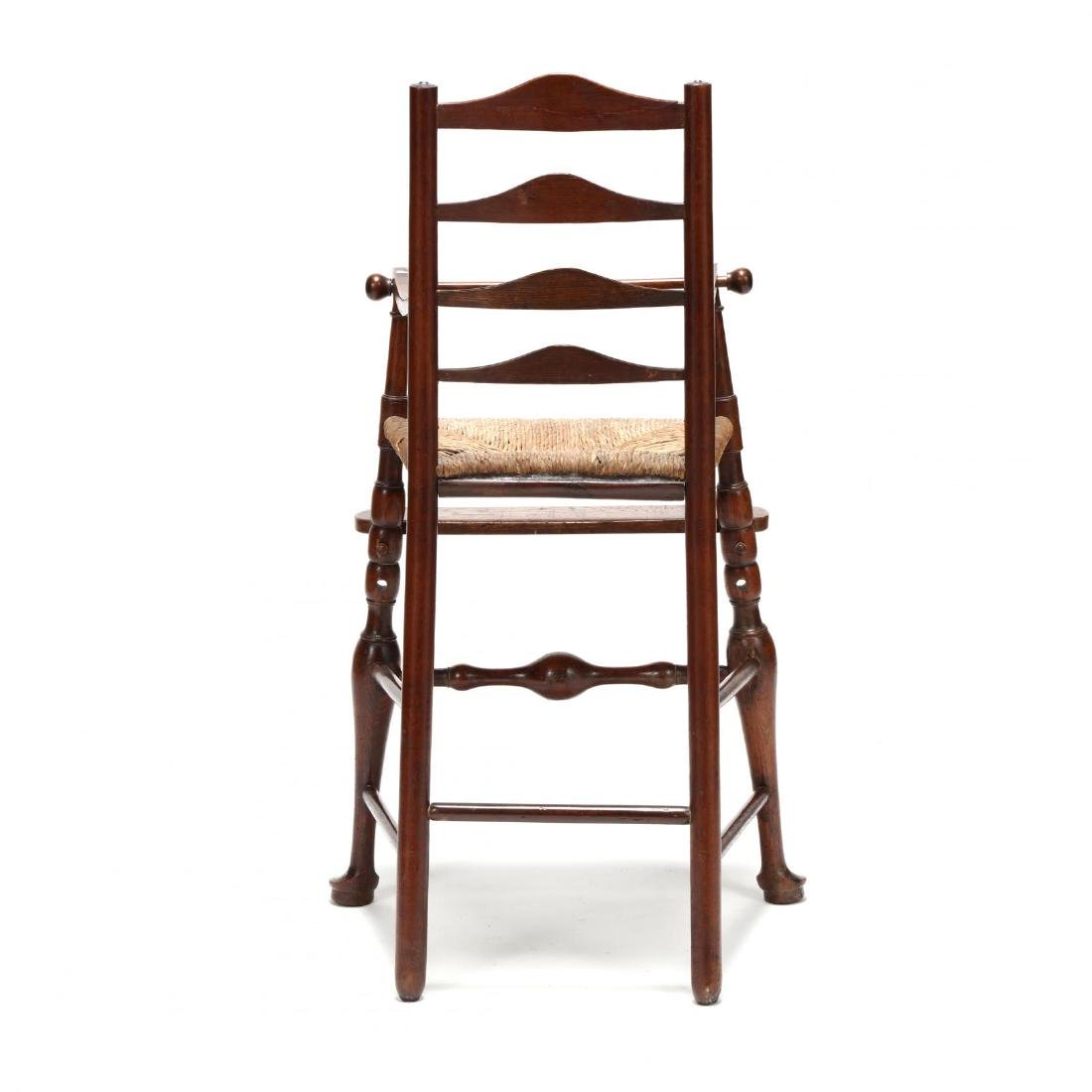 English Queen Anne Style Elm Child's High Chair - 3