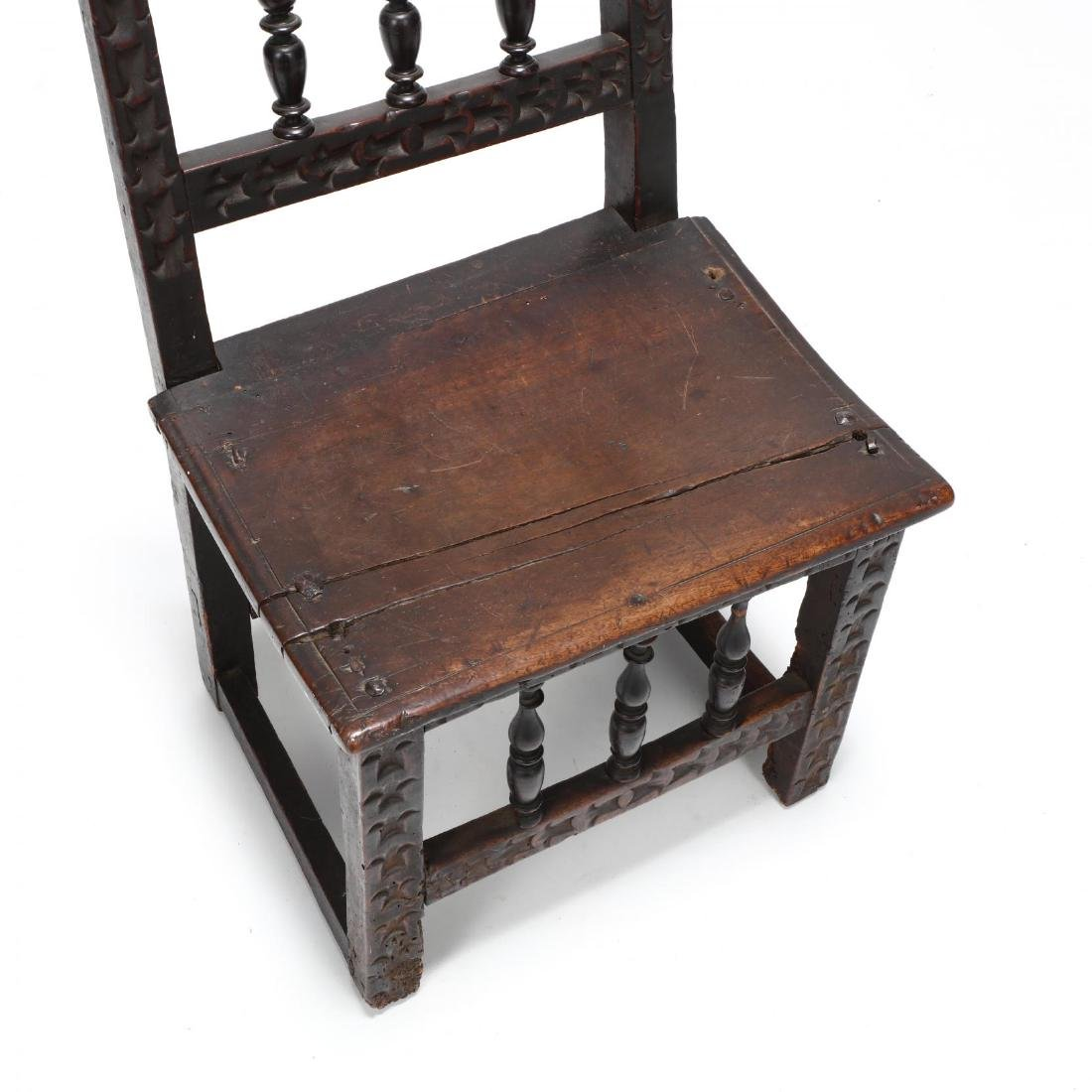 Jacobean Carved Walnut Side Chair - 2