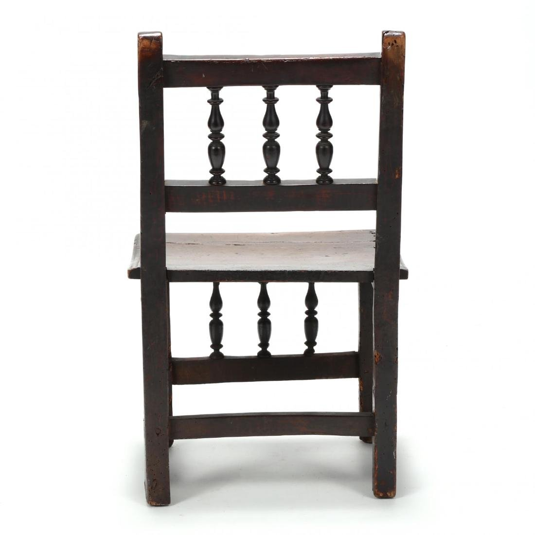 Jacobean Carved Walnut Side Chair - 4