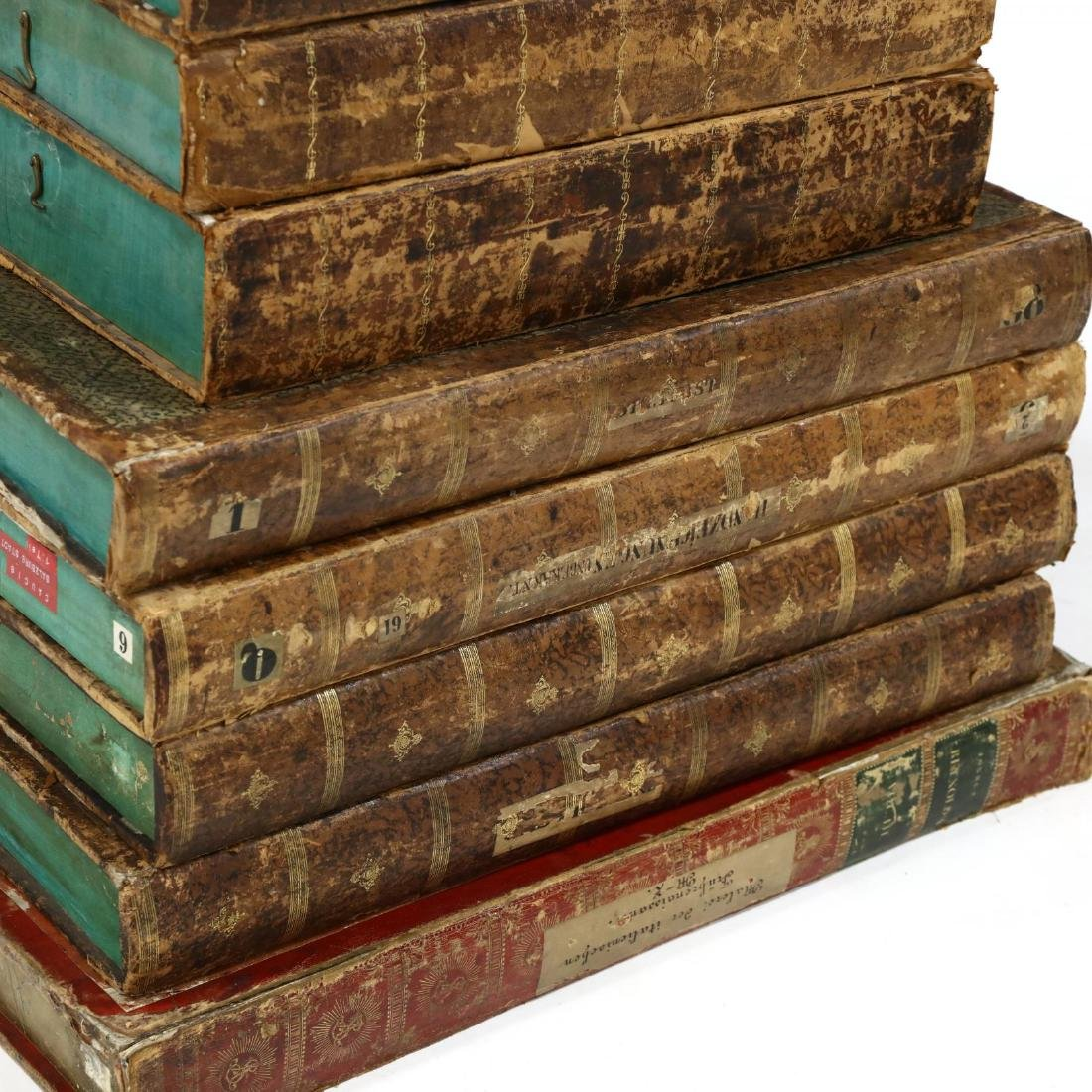Group of Eight Oversized Antique Faux Book Form - 2