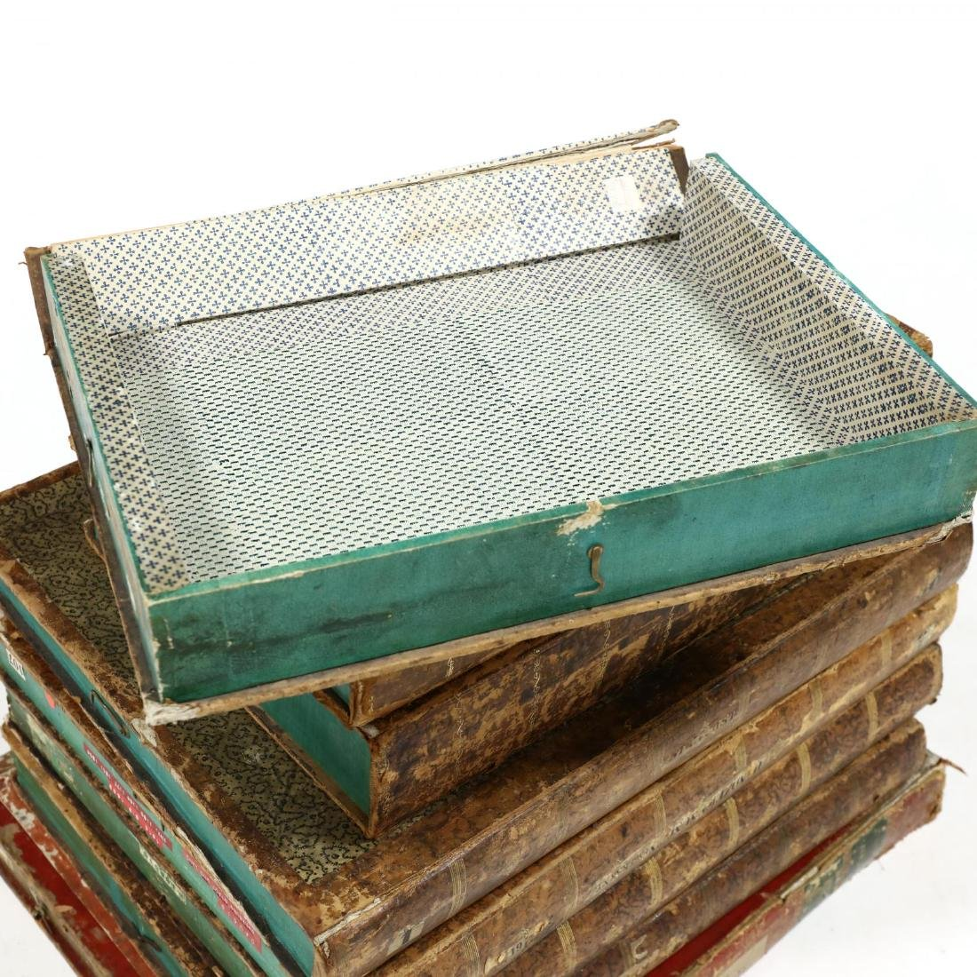 Group of Eight Oversized Antique Faux Book Form - 3