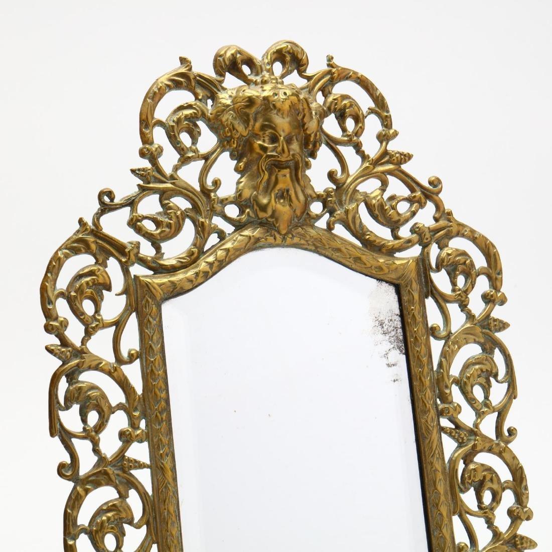 Renaissance Revival Mirror and Oil Lamp - 2