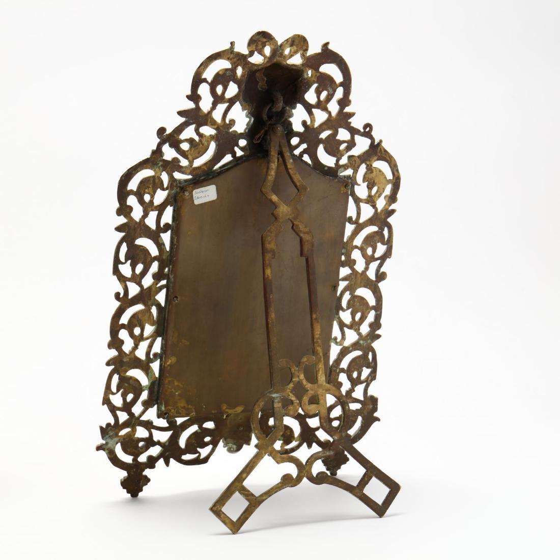 Renaissance Revival Mirror and Oil Lamp - 3