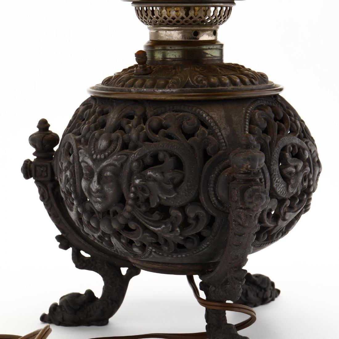 Renaissance Revival Mirror and Oil Lamp - 5