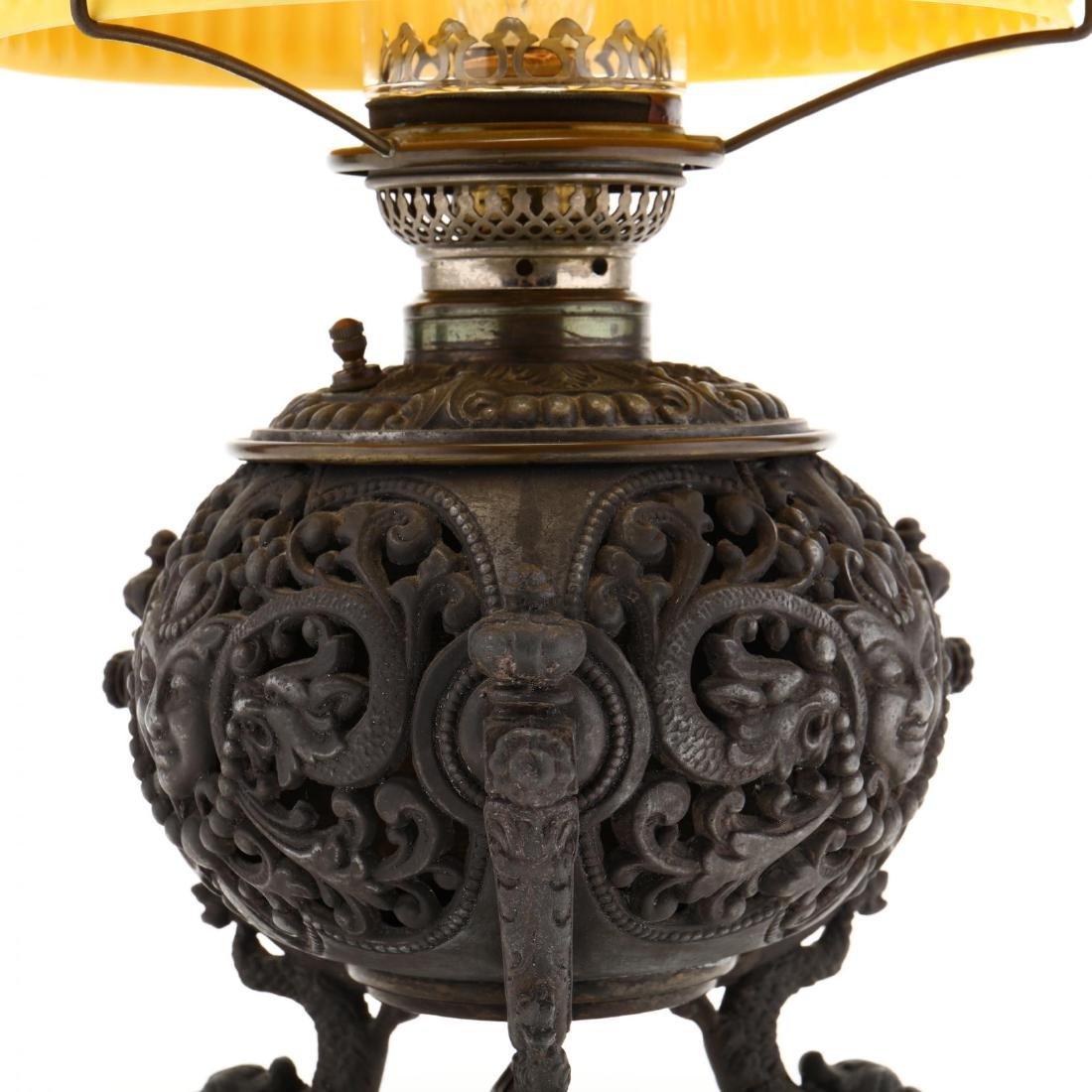 Renaissance Revival Mirror and Oil Lamp - 6