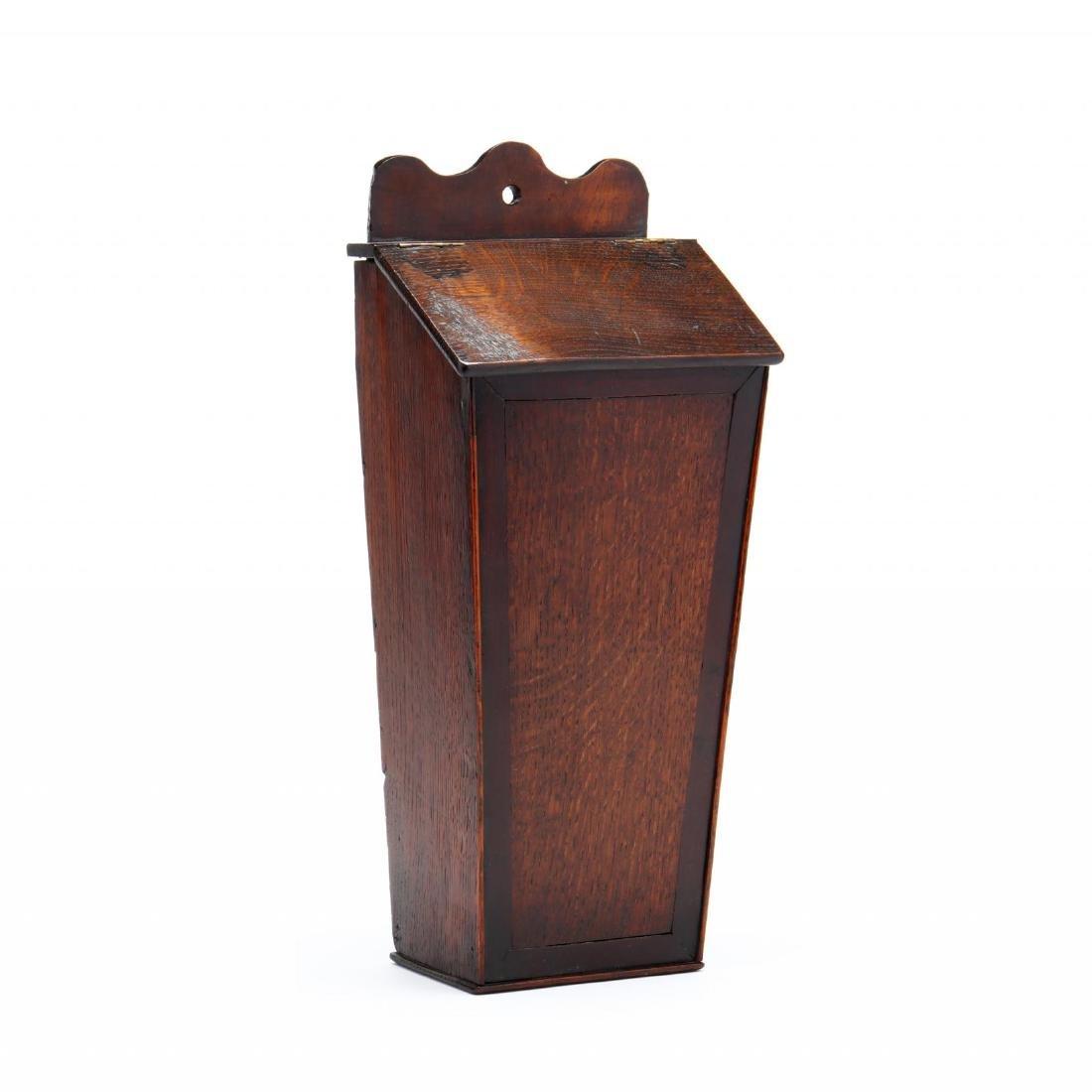 An Antique English Oak Candlebox