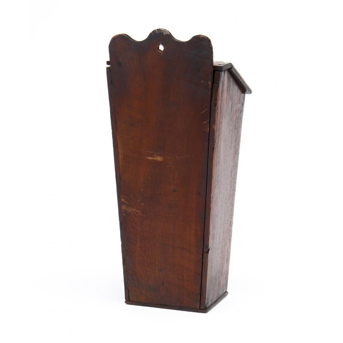 An Antique English Oak Candlebox - 2