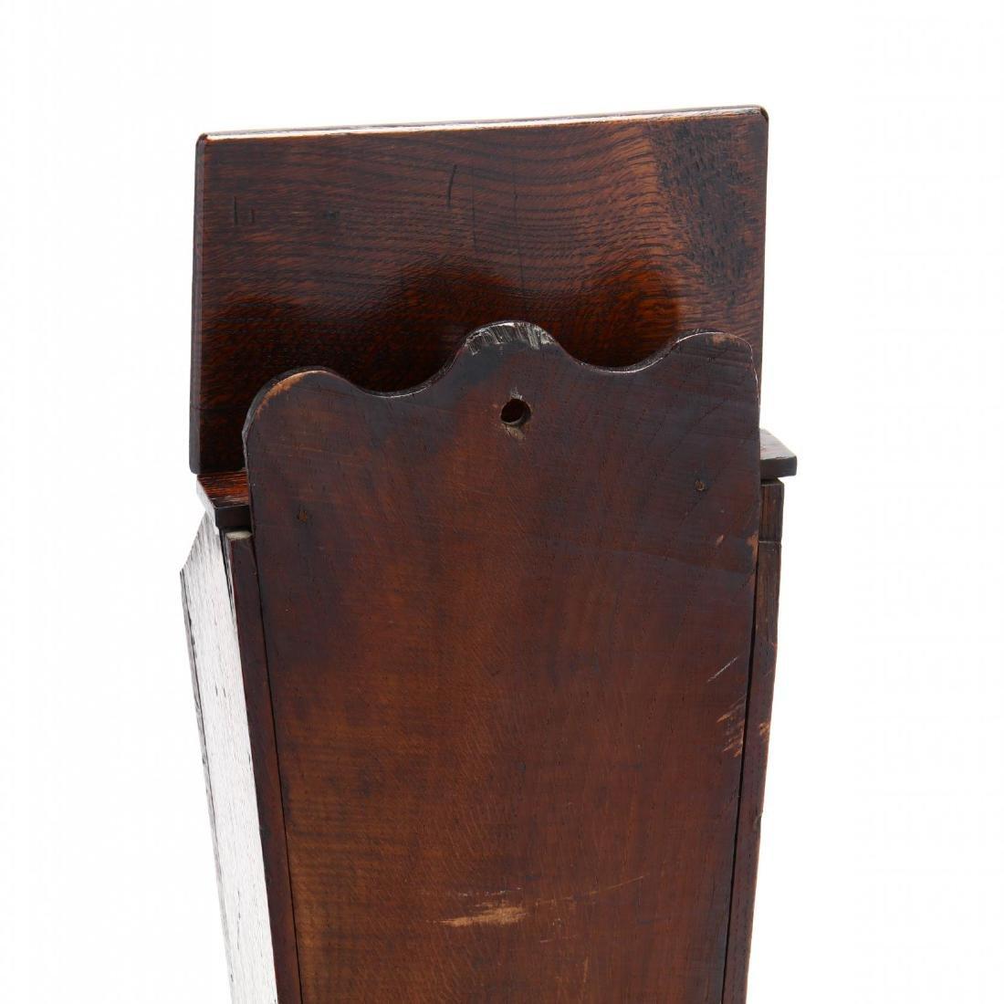 An Antique English Oak Candlebox - 3
