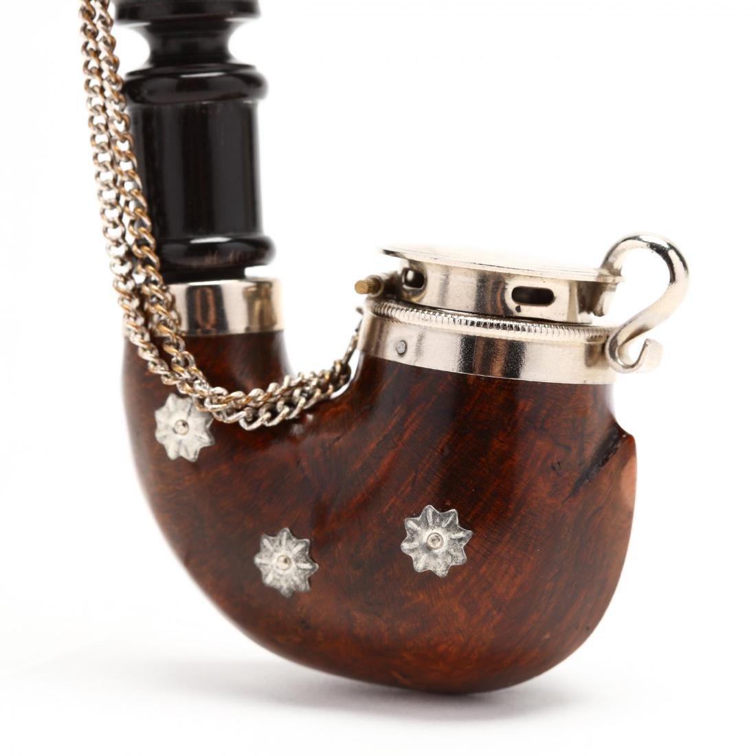 Antique and Vintage Gentleman's Pipe & Match Holder - 3