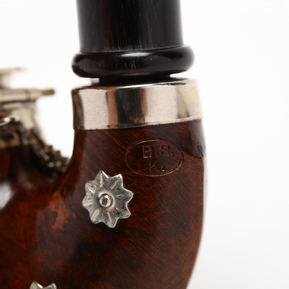 Antique and Vintage Gentleman's Pipe & Match Holder - 7