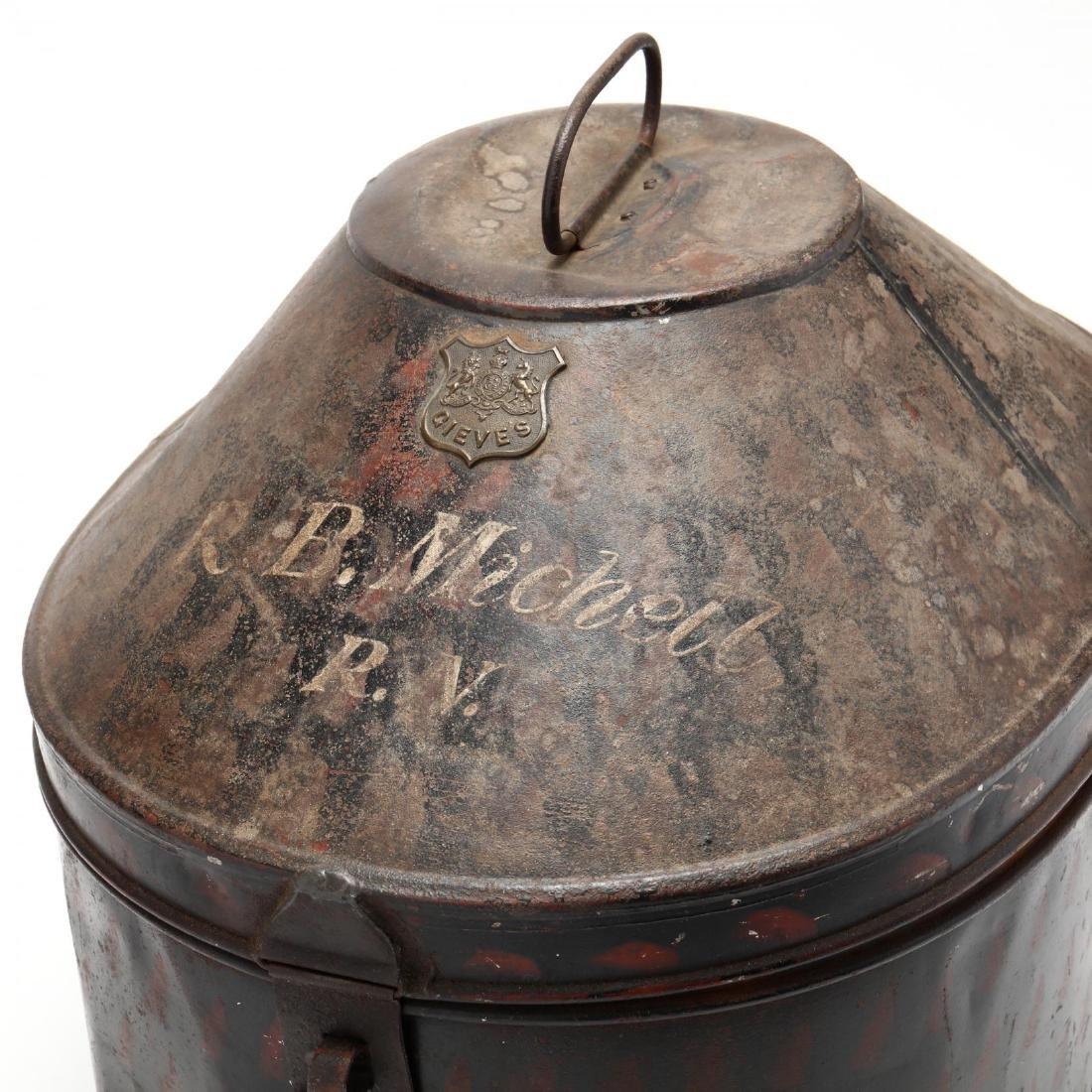 Antique English Toleware Hat Box - 2