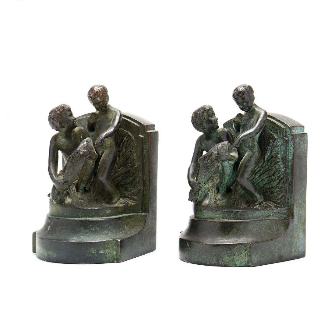 "Vintage Bronze Tone Souvenir Bookends from ""The"