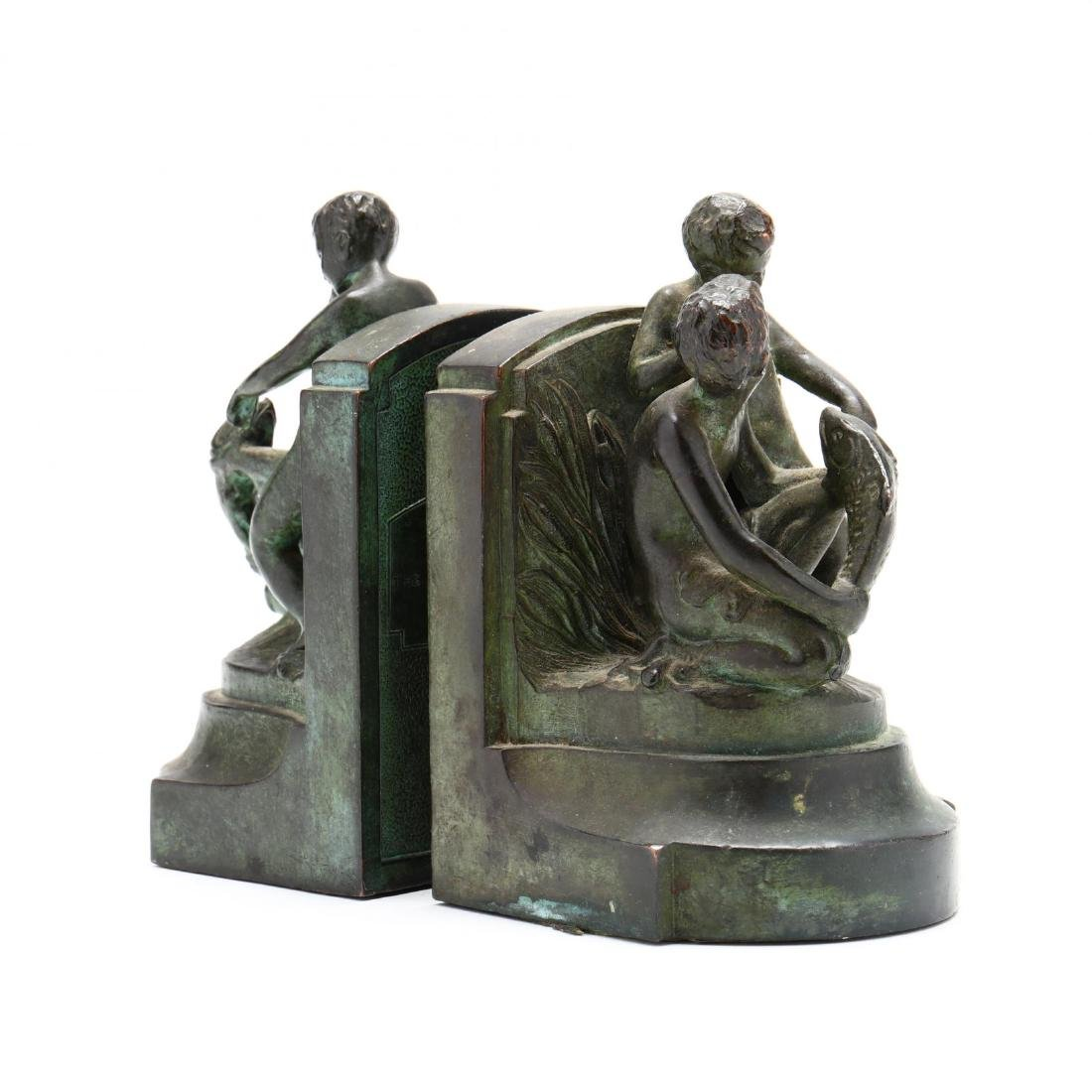 "Vintage Bronze Tone Souvenir Bookends from ""The - 4"