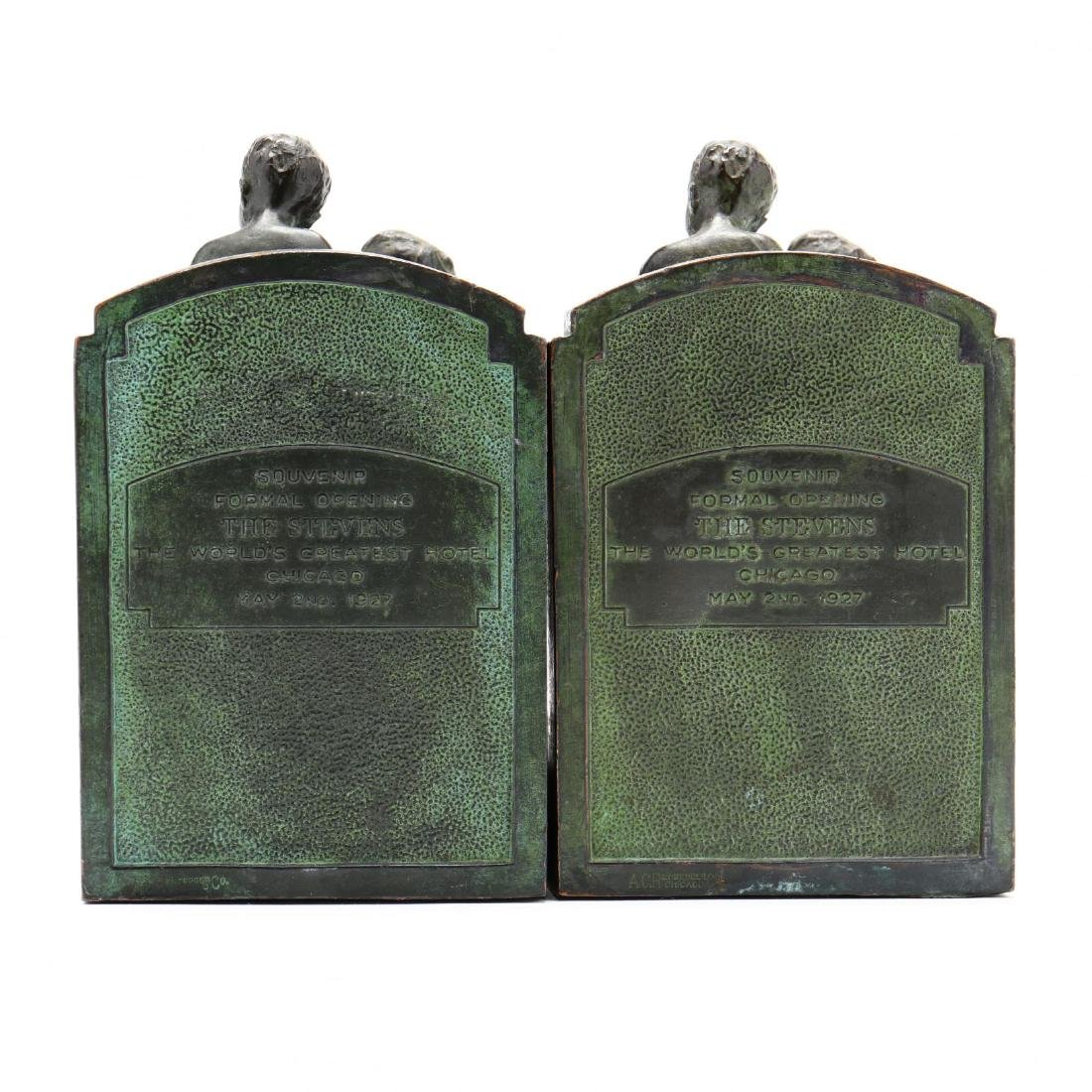 "Vintage Bronze Tone Souvenir Bookends from ""The - 5"